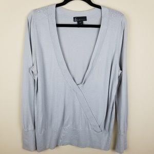 Lane Bryant Gray Over Shirt / Cardigan S 14/16